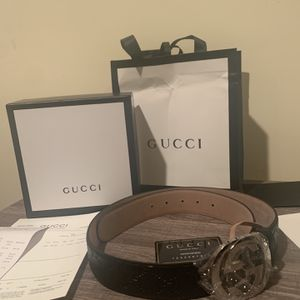 Black Embossed Gucci Belt for Sale in Ashburn, VA