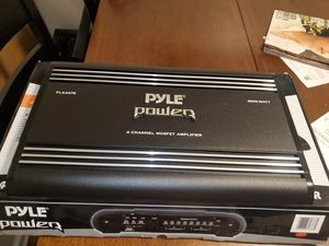 PYLE 4 CHANNEL 4000WATTS AMPLIFIER PERFECT FOR DOOR SPEAKERS OR CHUCHERO BOXES AND MORE for Sale in The Bronx, NY
