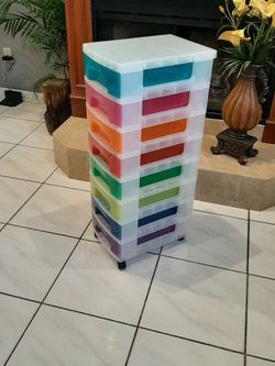 NEW Really Useful 8 drawer Rainbow Multi-Colored Rolling Drawer Tower on Wheels for Sale in Orlando,  FL