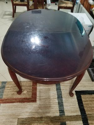 Oval Wood Dining Table + Leaf With 6 Chairs for Sale in Houston, TX