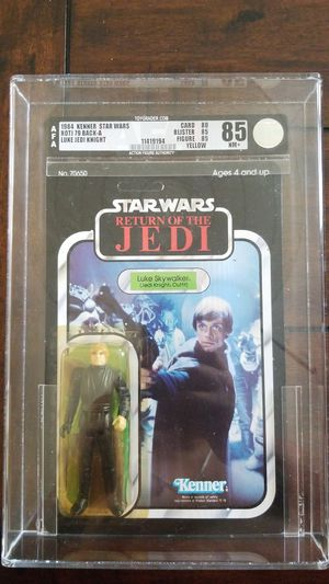 1984 Kenner Star Wars Return Of The Jedi ROTJ Luke Skywalker Jedi Knight AFA 85 79 Back-A for Sale in Lakewood, CA