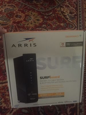 Surfboard Docsis 3.0 cable modem& wifi router with McAfee protector for Sale in Citrus Heights, CA