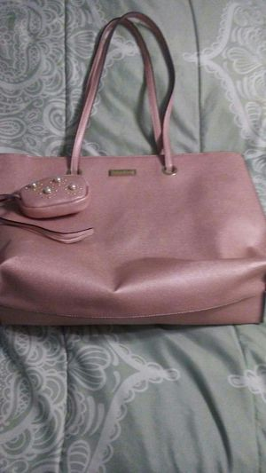 Tahari rose colored purse with matching wallet for Sale in Pittsburgh, PA