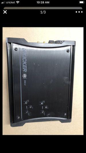 Kicker ZX 350 4 channel amplifier for Sale in Visalia, CA