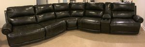 5-Piece Leather Sectional Couch with Recliners for Sale in Downers Grove, IL