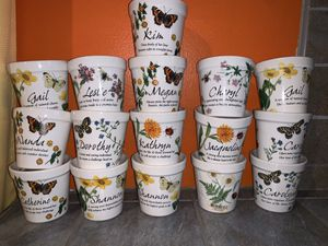 Personalized Flower pots with Candles. History & Heraldry. for Sale in Covina, CA