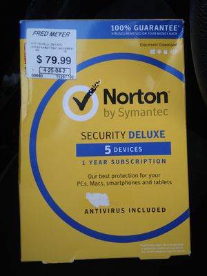Norton Security Deluxe 5 Device 1 yr Subscription for Sale in Portland, OR