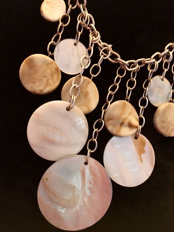 "New 19"" Shell Toned Multi-Layer Necklace by New York & Company"