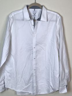 """""""Infinite Cool"""" CALVIN KLEIN Non-Iron Shirt_SlimFit_Size L White Gently used for Sale in French Creek,  WV"""