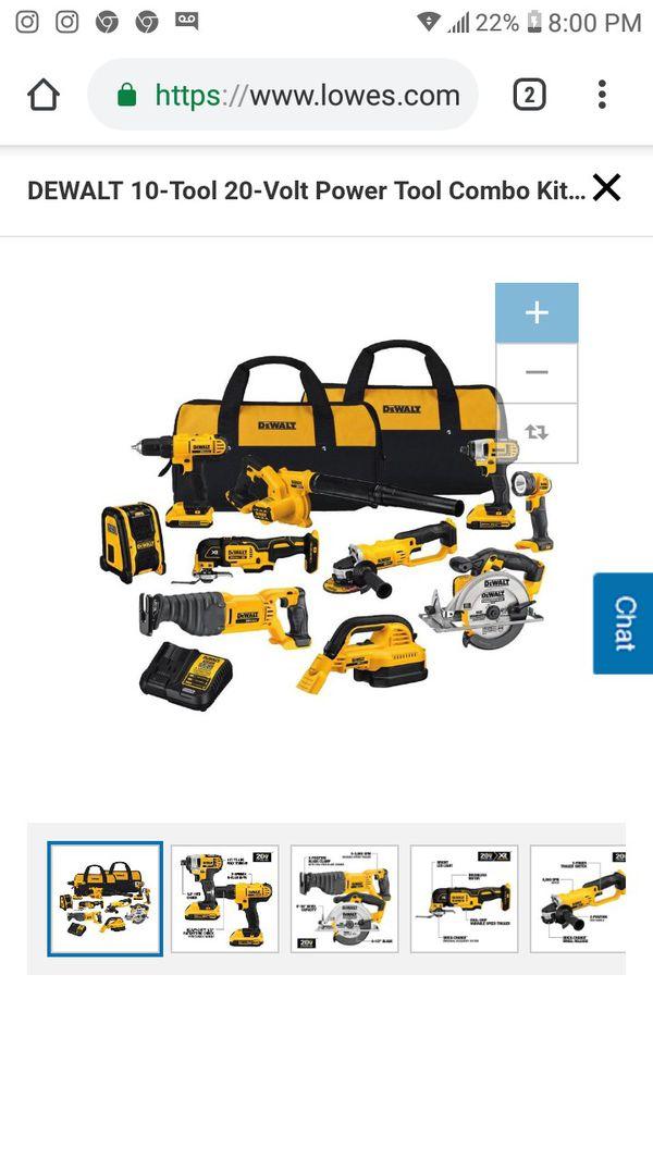 DeWalt power tool combo kit