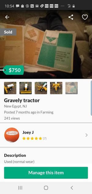 Gravely tractor for Sale in Plumsted Township, NJ