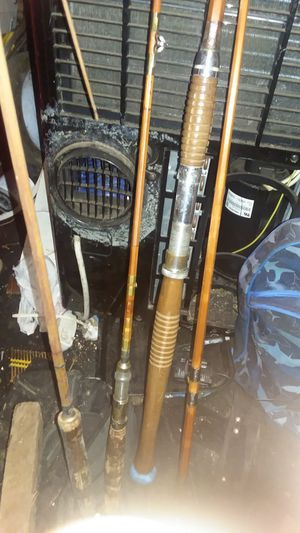 Fishing poles bamboo 6foot a 9 foot and 9and half for Sale in Spokane, WA