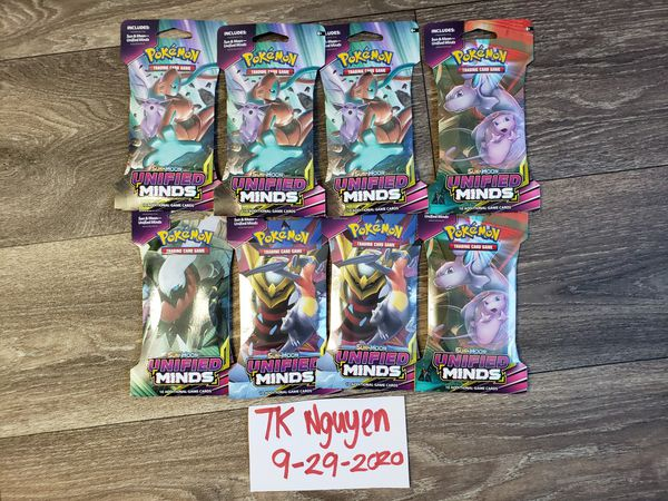 Pokemon cards booster packs Unified minds