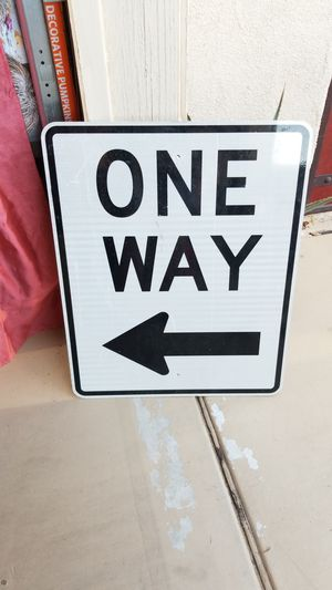 24in. X 30 in. ONE WAY sign for Sale in Yuma, AZ
