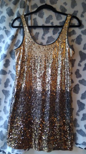 Express, sequins gold dress for Sale in Norwalk, CA