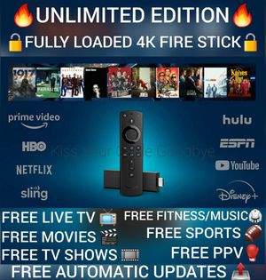 Fire TV Stick 4K streaming device with Alexa, Ultra HD, Dolby Vision, includes the Alexa Voice Remote for Sale in Fort Worth, TX
