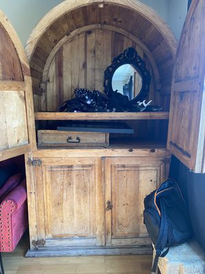 Wooden Antique Armoire for Sale in Los Angeles, CA
