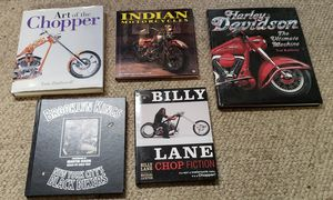 Harley Davidson Indian chopper motorcycle books lot for Sale in Sacramento, CA
