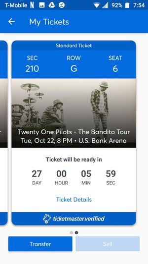 Twenty One Pilot Tickets for Sale in Lexington, KY