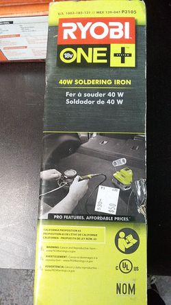 Ryobi (Like New) 40w Soldering Iron (batter,charger) set $50 for Sale in La Habra Heights,  CA