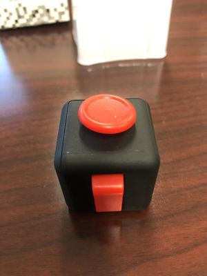 Fidget Toy Cube Stress Anxiety Relief Desk Relief 6 Sided For Adults Kids Focus. Large. Red. for Sale in Victoria, TX