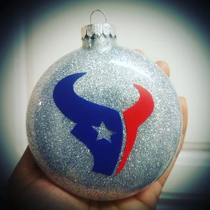 Texans glass ornaments 3 for $10 for Sale in Houston, TX
