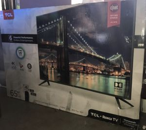 """65"""" Roku smart tcl 4k led TV for Sale in Garden Grove, CA"""