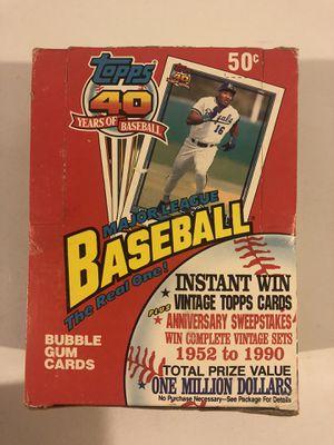 1991 Topps unopened baseball card packs for Sale in Rutland, MA