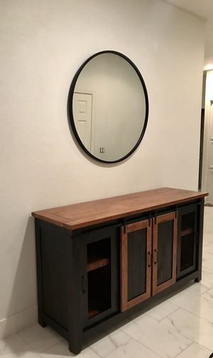 Real wood well made console table / dresser / buffet / TV stand 64 in long 19 in deep 35 in tall for Sale in Peoria, AZ