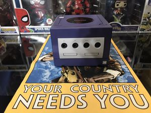 Nintendo gamecube purple with memory card and luigis mansion for Sale in Houston, TX