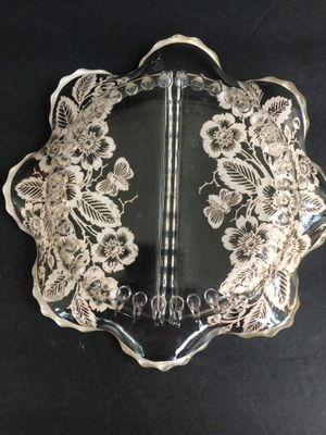Silver City Divided Relish Plate Flowers and Bees for Sale in Midland, MI