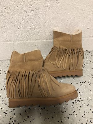 ASH Chestnut Fringed Shearling Winter Boots 39 for Sale in Bradenton, FL