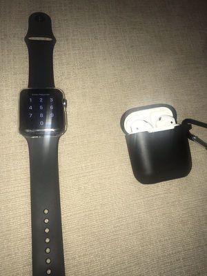 Apple Watch series 3 44m & AirPods for Sale in Alpharetta, GA