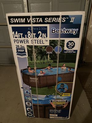 Bestway 14 x 8 x 40 Swimming Pool Set for Sale in Westland, MI