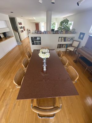 Red Granite Dining Table with Chairs for Sale in Marina del Rey, CA