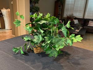 Wicker Basket fake house plant for Sale in Moreno Valley, CA