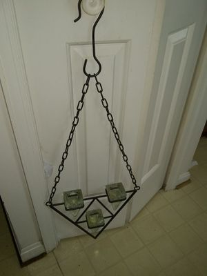 Heavy metal ceiling hanging or wall candle holder for Sale in Alexandria, VA
