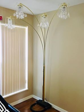 Chandelier style Floor lamp with Dimmer switch for Sale in St. Louis, MO