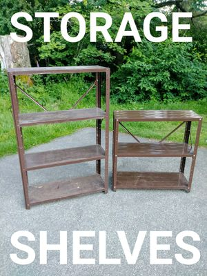 2 Light Duty Metal Storage Shelves for Sale in Tacoma, WA