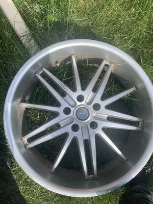 "Whole set 20"" Velocity Rims.. including 3 tires for Sale in Dearborn, MI"