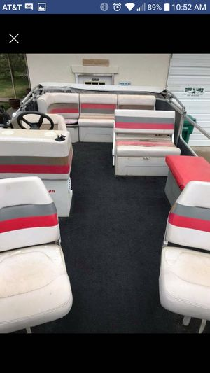 75hp Tracker Bass Buggy pontoon boat for Sale in Aurora, CO
