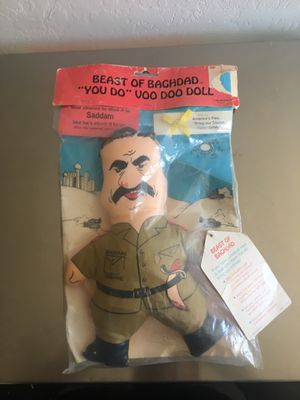 Saddam Hussein Iraq Desert Storm 1990 doll for Sale in Casa Grande, AZ