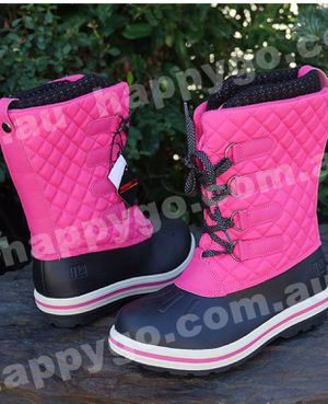 Rugged Outback Girls Boots Pink Black Waterproof Snow Winter Blizzard size 2 for Sale in Dallas, GA