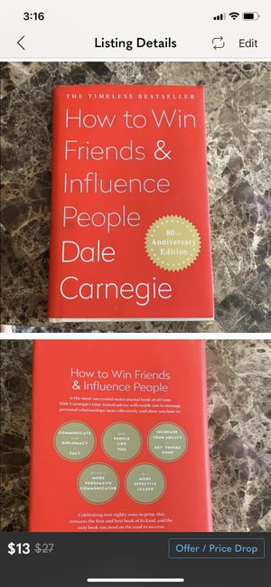 How to win friends and influence people book for Sale in Guilford, CT
