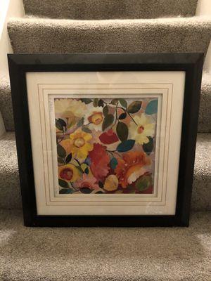 Framed floral picture for Sale in Reston, VA