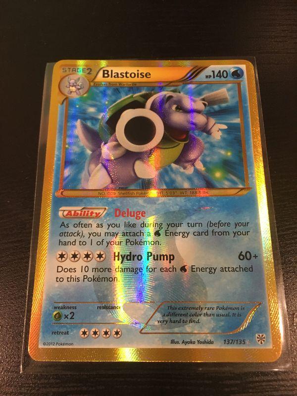 Blastoise 137/135 Plasma Storm Secret Rare Pokemon Card