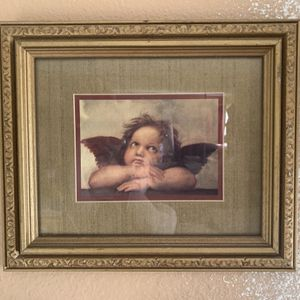 Beautiful Framed Picture Of Philosophical Angel for Sale in Irvine, CA