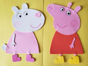 Peppa pig birthday party wall decoration for Sale in Ashburn, VA