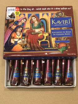 12pcs Kaveri Henna Cone 100% Organic, Chemical Free, Color Guarantee for Sale in Rockville Centre,  NY
