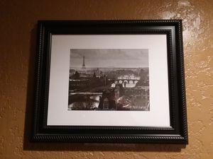 Paris scene framed photo print for Sale in Jacksonville, FL